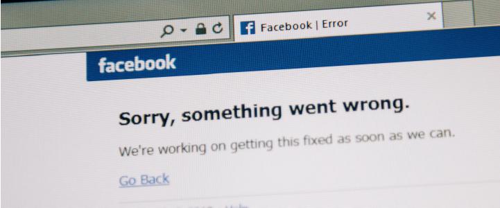 Fallas en Facebook y redes sociales